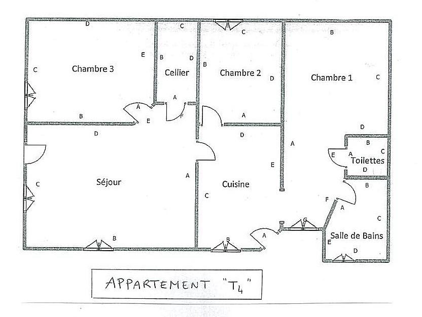 plan appartement 70 m2 t4